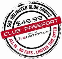 Live Nation Club Passport