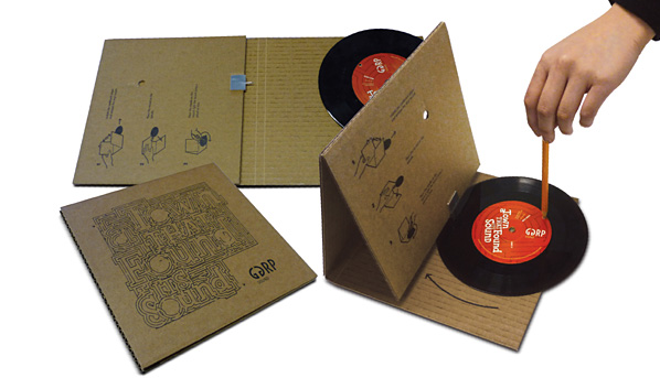 Cardboard-phonograph