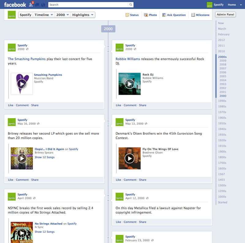 Spotify-facebook-timeline