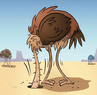 Ostrich-sand