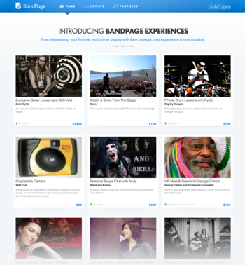 BandPage Experiences
