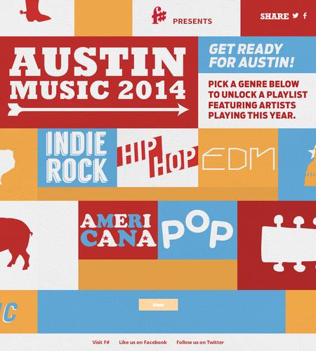 F# Austin Music Playlist Generator 2014