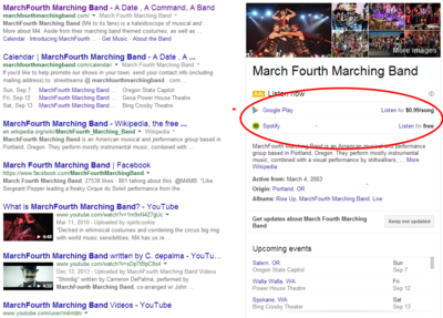 Marchfourth marching band   Google Search