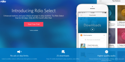 RDIO Select   high quality music anywhere your phone is
