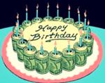 birthday cake money