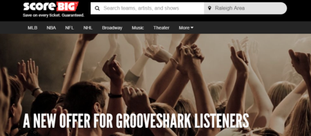 Grooveshark   Discounted Concert Tickets by ScoreBig