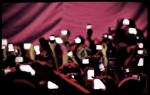 mobile phone at concert
