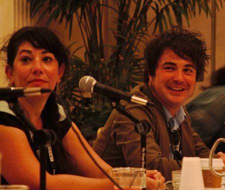 Jeff Gray, Amine Ramer speak during Music Supervisor Mosh-Pit