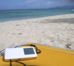 ipod at beach
