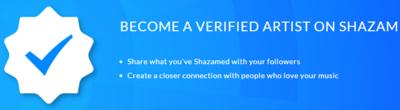 Artists Verification   Shazam