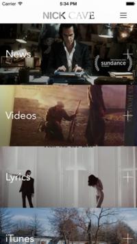 Nick Cave app
