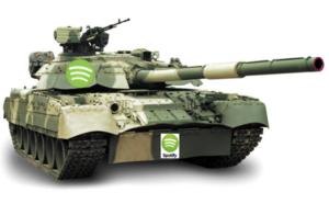 Spotify tank