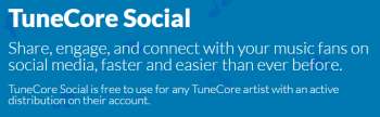 TuneCore Social  Share  Engage  and Connect with Fans