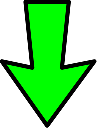 Arrow_outline_green_down