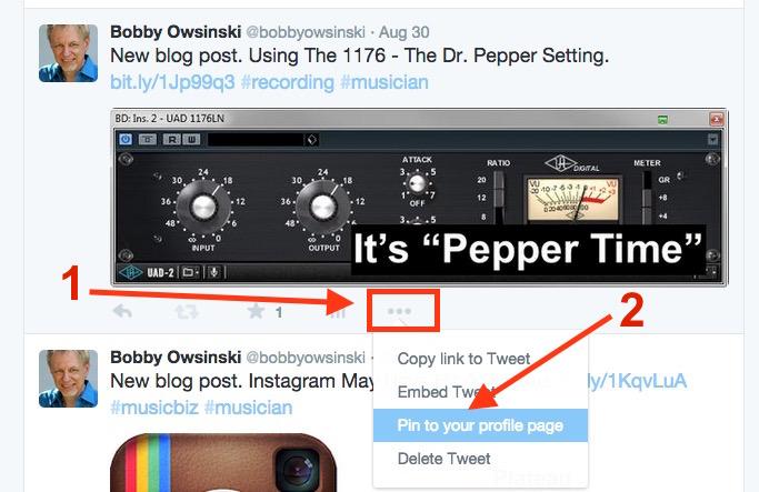 Pinning Your Tweet