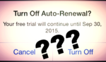 auto-renewal Apple