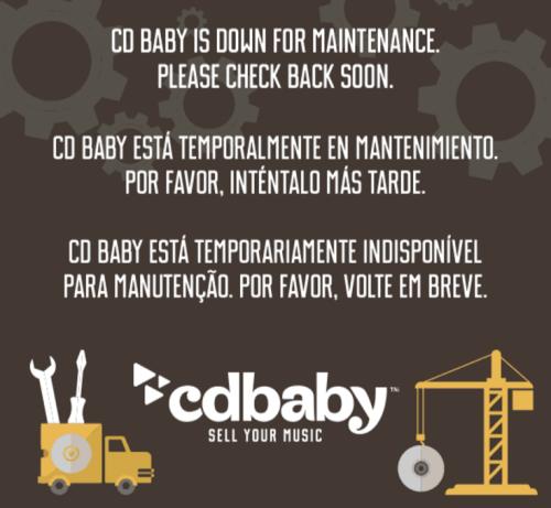 CD Baby Down