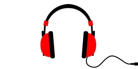 Headphones red