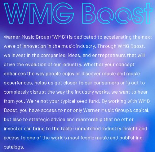 WMG Boost