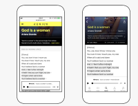 Apple Music player on Genius — Mobile Web and iOS app views