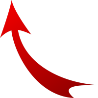 Arrow red up