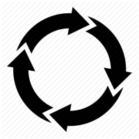 Arrows in circle
